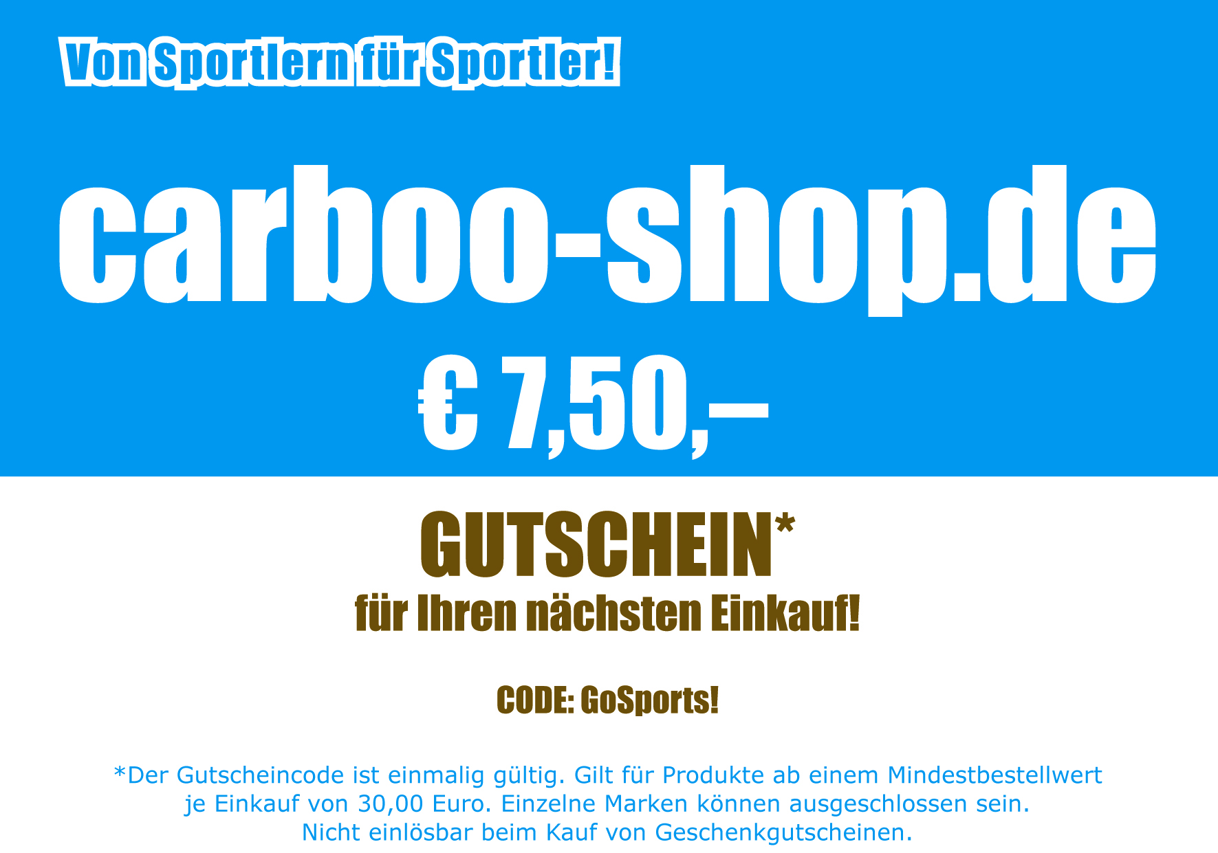 Gutschein - Carboo4U - carboo-shop.de - Carboo4U Performance